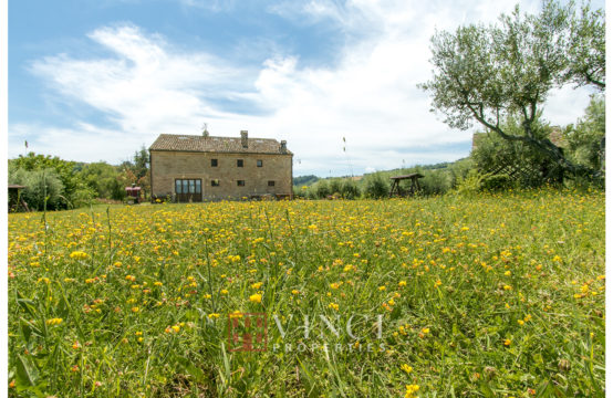 PRICE REDUCED. Agriturismo for sale in Le Marche including all licences, with land from 1 hectare up to 30 hectares