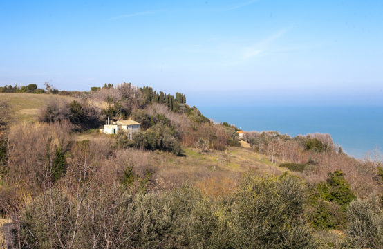 Price Reduced. Farmhouse to restore and building plot overlooking the sea for sale in Cupra Marittima, Marche